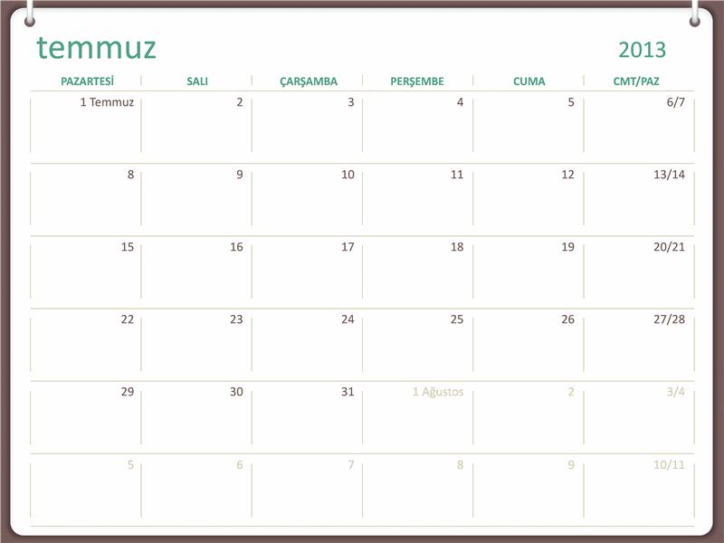 2013-2014 akademik takvimi (Temmuz)