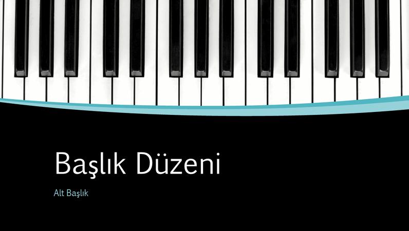 Müzikal kıvrımlar sunusu (geniş ekran)