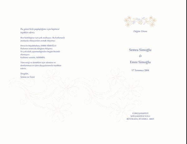Düğün programı