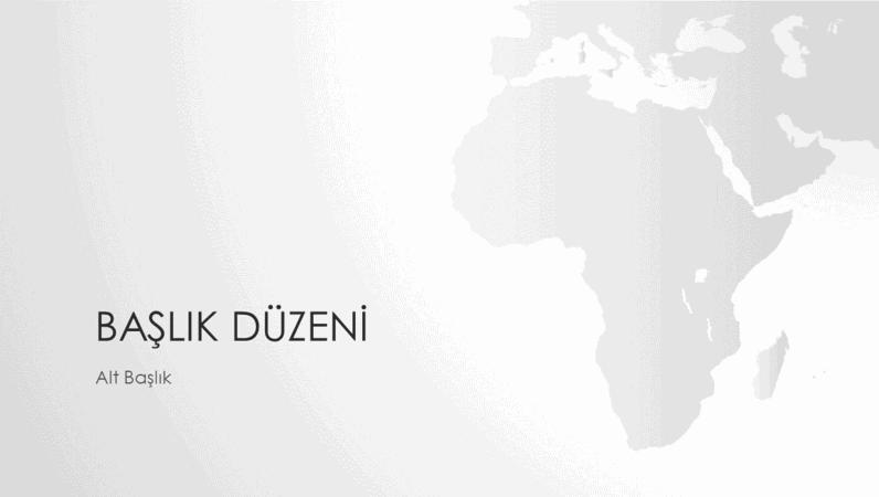 Dünya haritaları serisi, Afrika kıtası sunumu (geniş ekran)