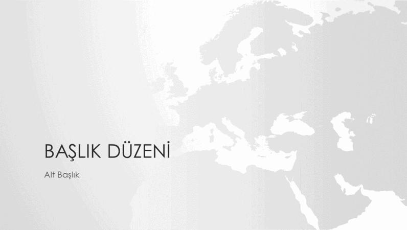 Dünya haritaları serisi, Avrupa kıtası sunumu (geniş ekran)