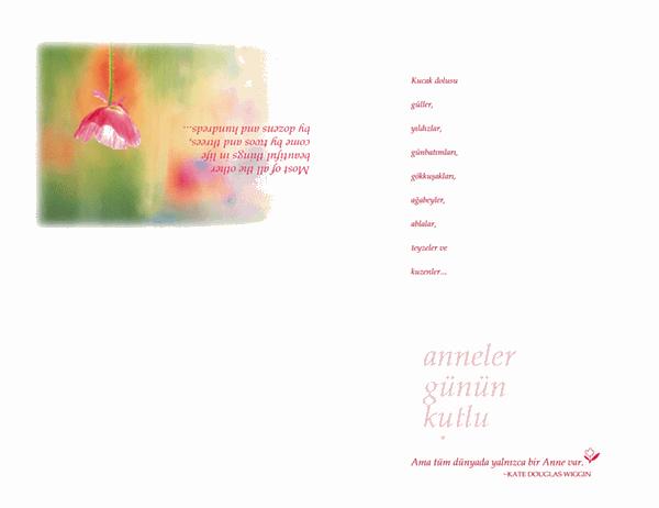 Anneler Günü kartı (suluboya)