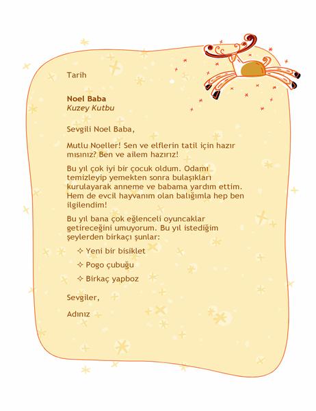 Noel Baba'ya mektup