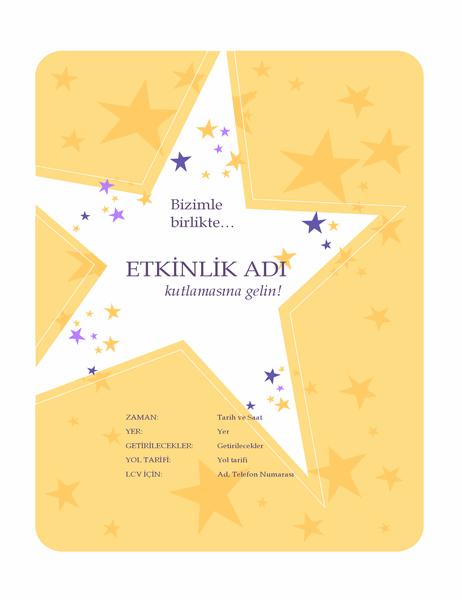 Parti davetiyesi el ilanı