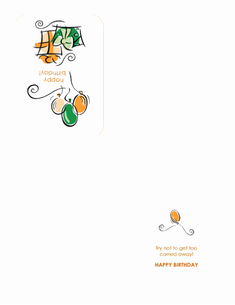 Doğum günü kartı (balonlarla)