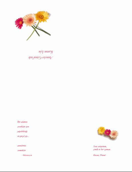Anneler Günü kartı (eşiniz için)