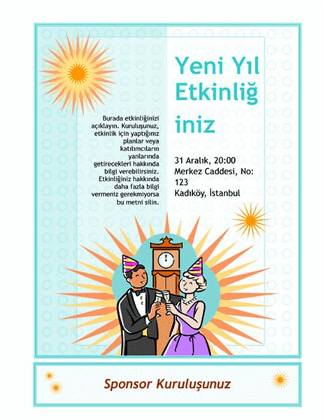 Yeni Yıl etkinliği el ilanı
