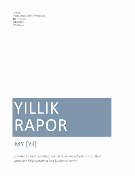 Yıllık rapor