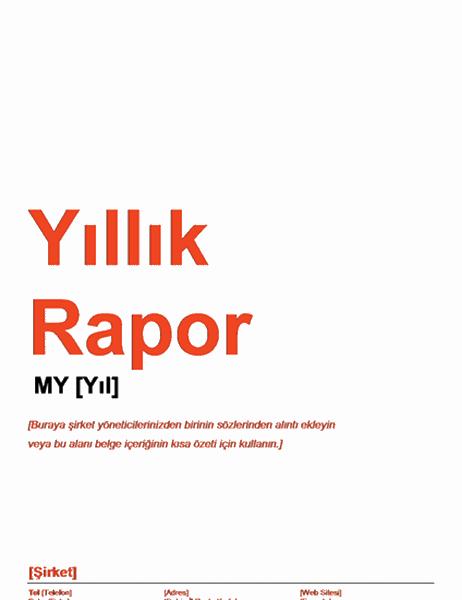 Yıllık Rapor (Kırmızı ve Siyah Tasarım)