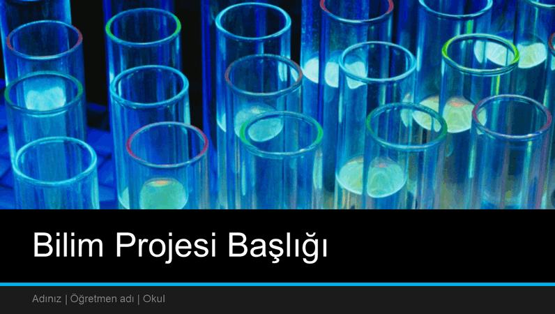 Bilim projesi sunusu (geniş ekran)