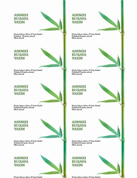 Kartvizitler (Bambu)