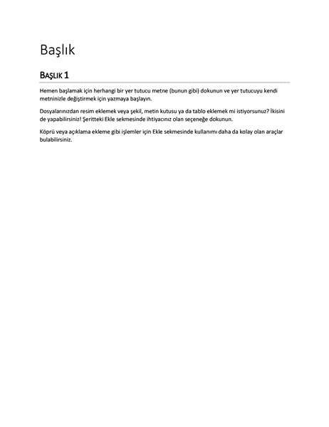 Rapor tasarımı (boş)