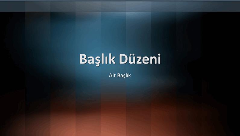 Dikey sözlük tasarım slaytları