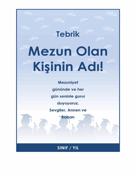 Mezuniyet tebrik el ilanı (Mezuniyet Partisi tasarımı)