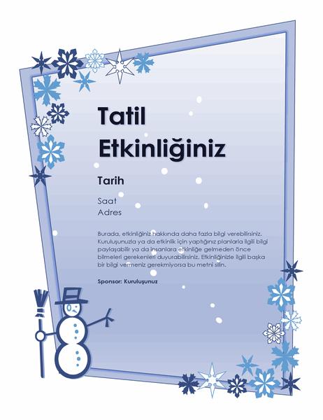Kış tatili etkinliği el ilanı