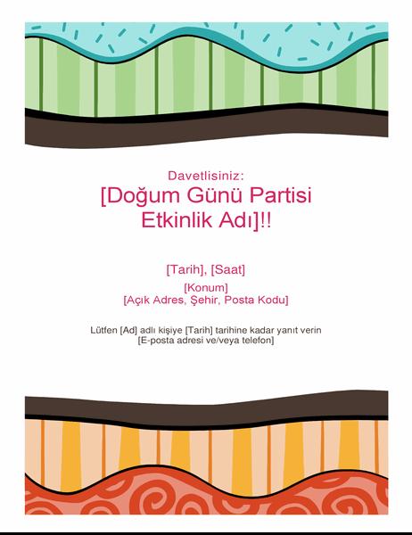 Doğum günü el ilanı (Parlak tasarım)