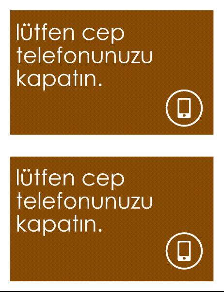 Cep telefonu yasaktır işareti (sayfa başına 2)