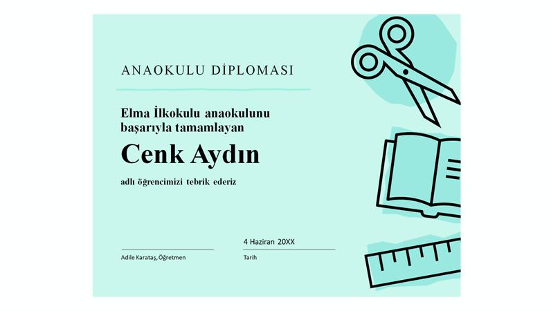 Anaokulu diploma sertifikası