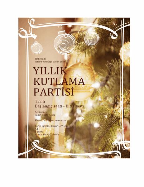 Tatil partisi daveti (iş etkinliği için)