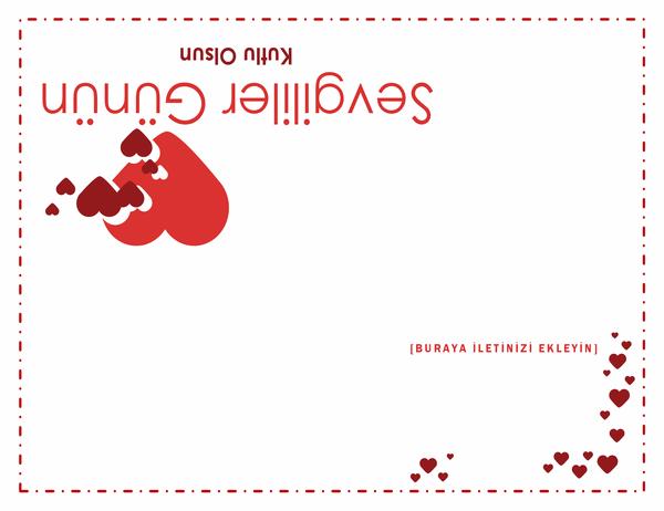 Sevgililer Günü kartı (dörde katlı)
