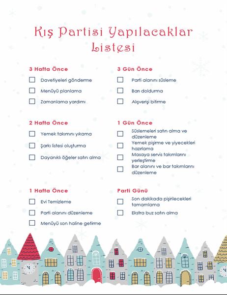 Kış tatili partisi yapılacaklar listesi