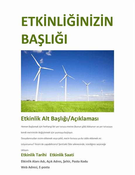 Etkinlik el ilanı (yeşil)