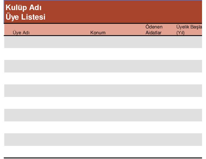 Üyelik listesi