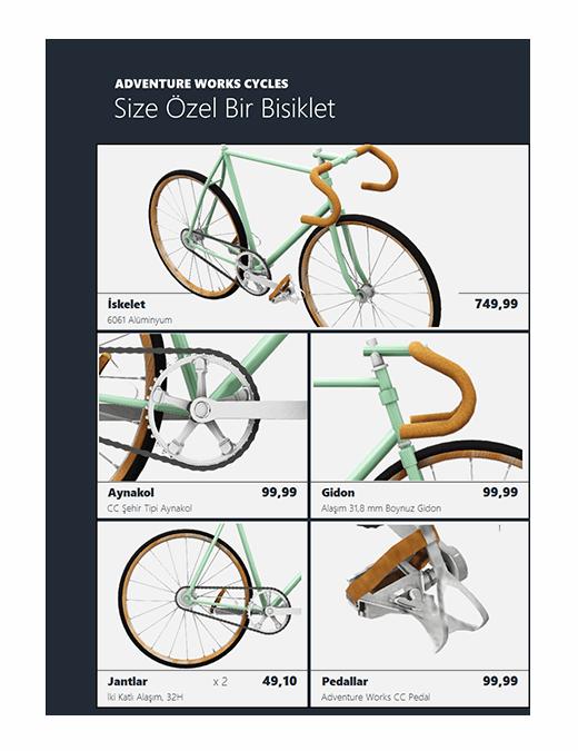 3B Excel ürün kataloğu (Bisiklet modeli)