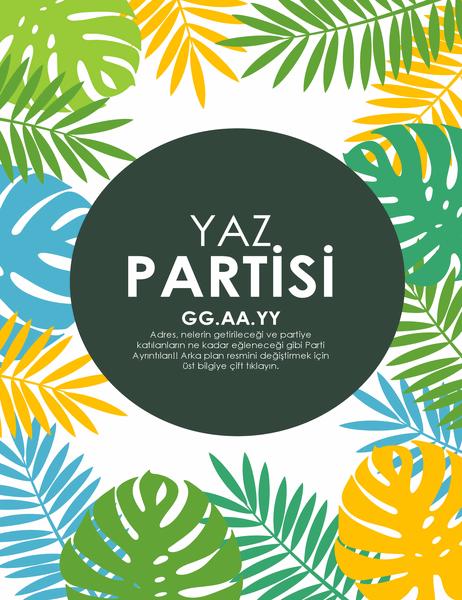 Yaz partisi el ilanı