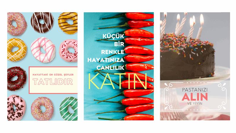Yiyecek posterleri