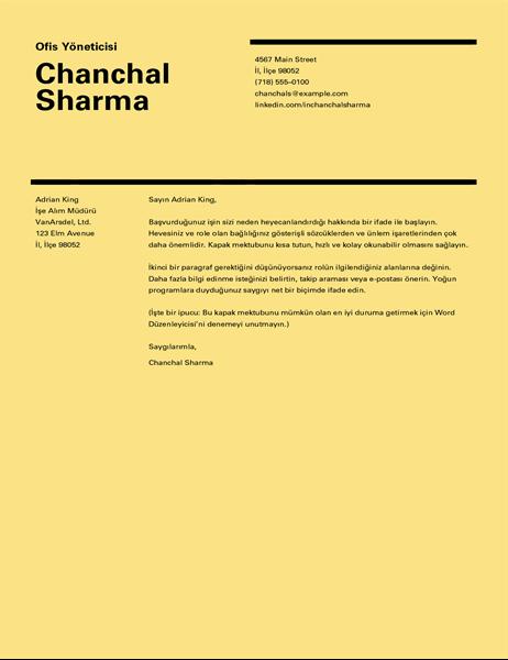 İsviçre tasarımı kapak mektubu