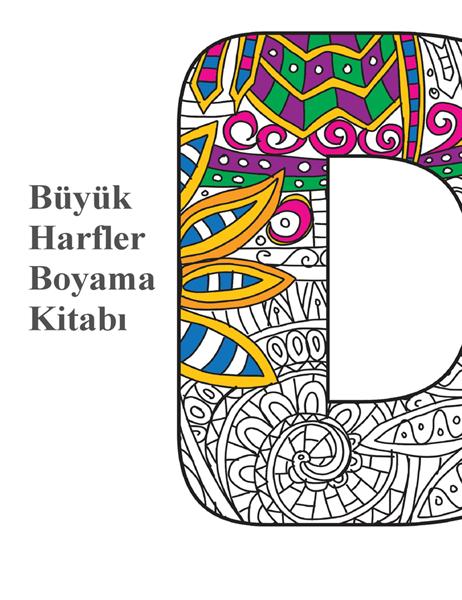 Büyük harfler boyama kitabı