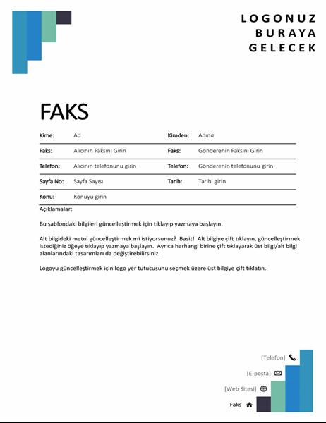 Mavi adımlar faks kapağı