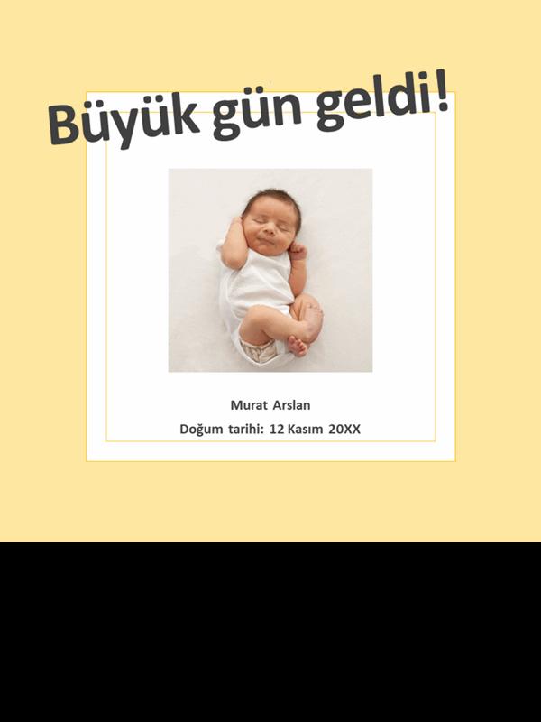 Bebeğin önemli anlar fotoğraf albümü