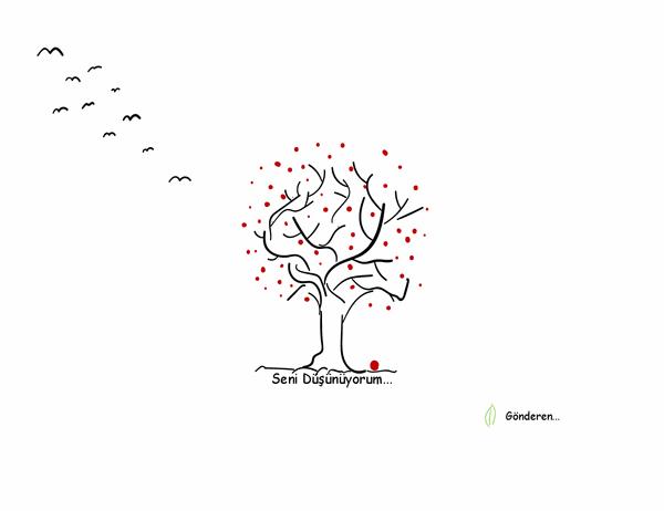 Ağaç iyi niyet kartı