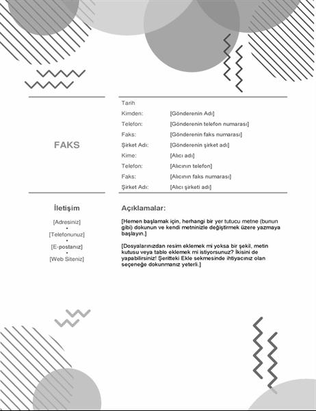 Siyah beyaz seksenler faks kapağı