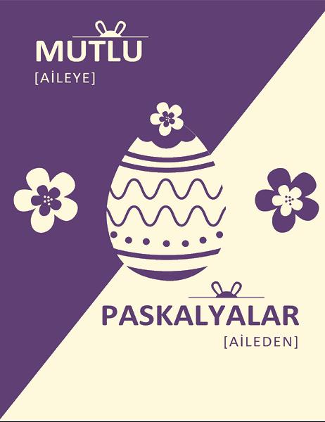 Mor Paskalya kartı