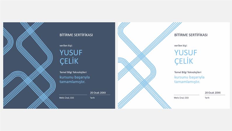 Şeritli bitirme sertifikası