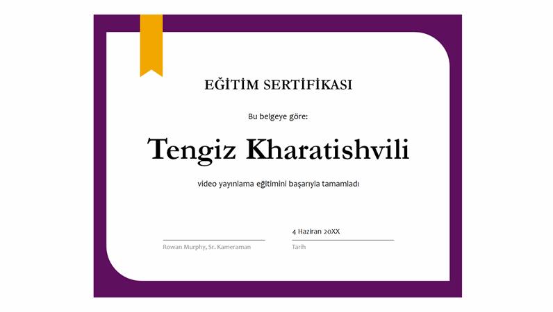 Eğitim sertifikası
