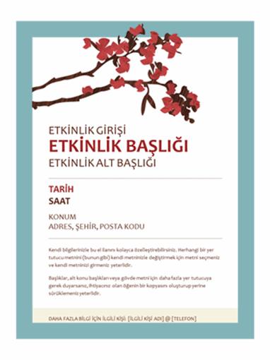 Bahar el ilanı (çiçekli dal tasarımı)