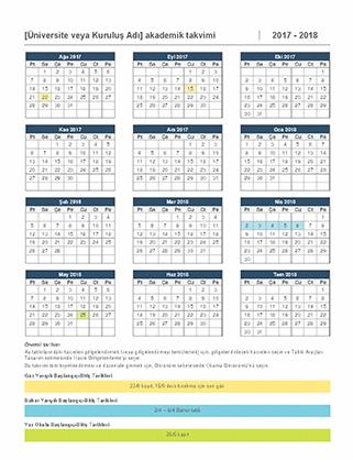 2017-2018 akademik takvimi