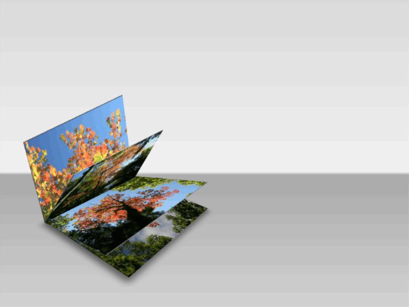 Рисунки у вигляді розгорнутої об'ємної книги