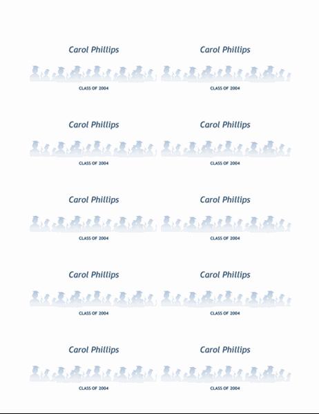 Картки з іменами випускників