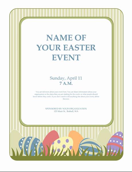 Запрошення на святкування Великодня (з писанками)
