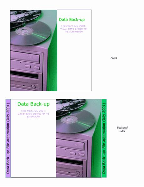 Вкладиші для коробок компакт-дисків, призначених для резевного копіювання даних