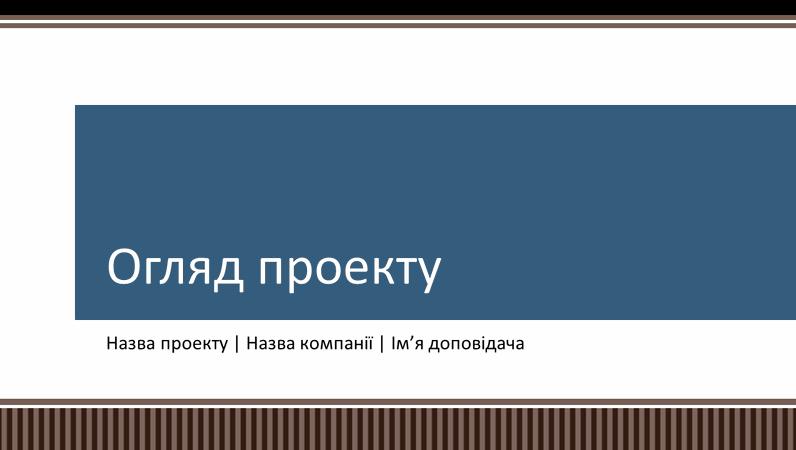 """Презентація """"Огляд і планування бізнес-проекту"""""""