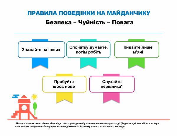 Правила поведінки на майданчику