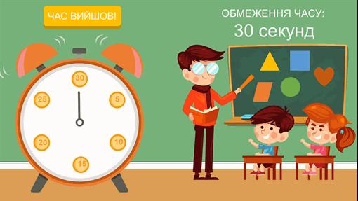 Відлік часу на занятті (звичайний годинник)