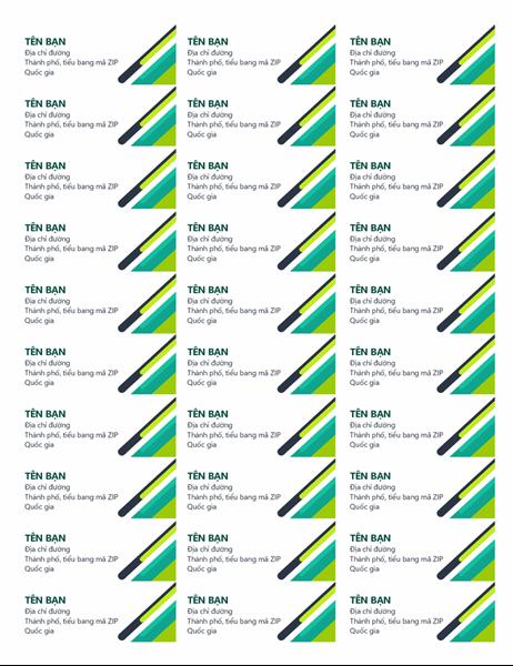 Nhãn viên nang hiện đại (30 nhãn mỗi trang)