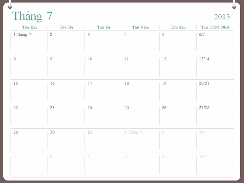 Lịch học 2013-2014 (tháng 7)